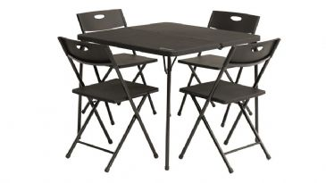 Outwell Folding Corda Picnic Table Set with 4 Chairs